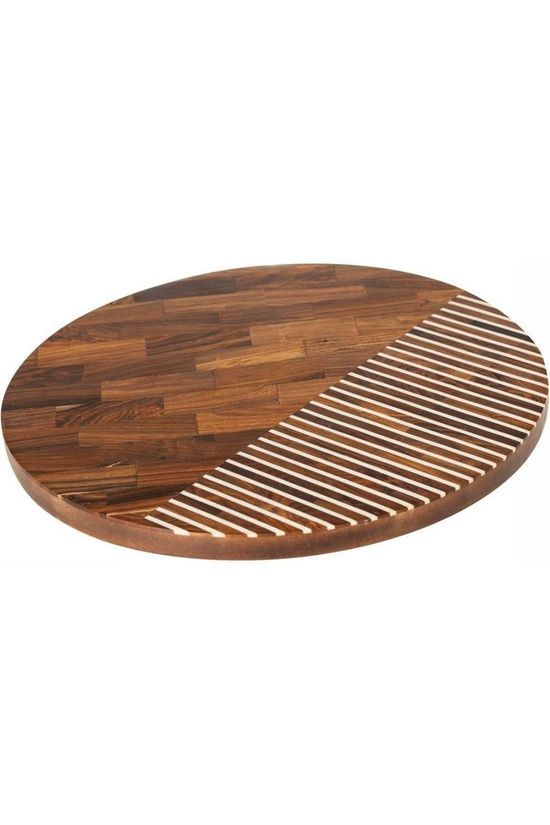 Yaya Home Cheese Board Round D35Cm Brun