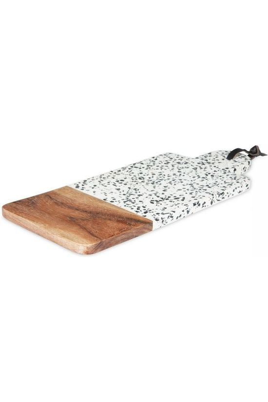 Yaya Home Servies Terrazzo Chopping Board Rectangle Gebroken Wit