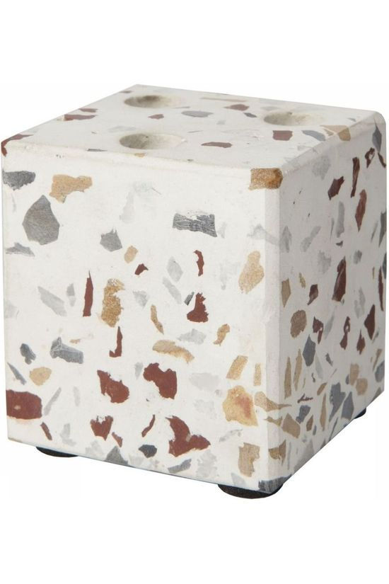 Yaya Home Cube Terrazzo Candleholder For 3 Mini Candles Assorti / Mixte