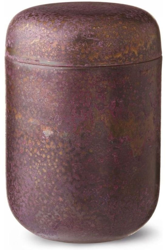 Yaya Home Bloempot Antique Corroded Box - Round Donkerrood