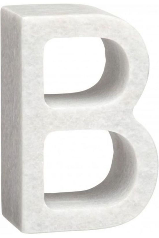 Yaya Home Decoratie  Marble Letter B Wit