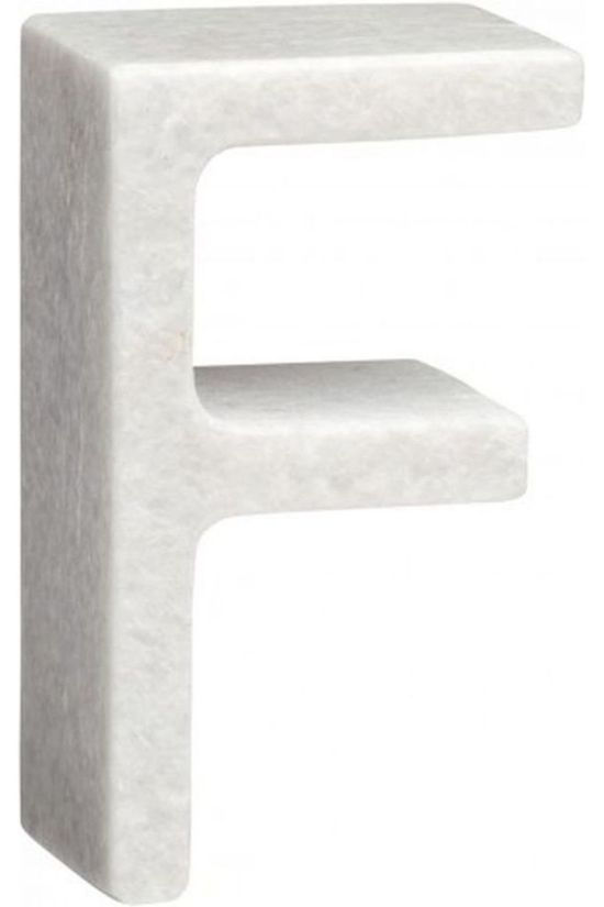 Yaya Home Decoratie  Marble Letter F Wit