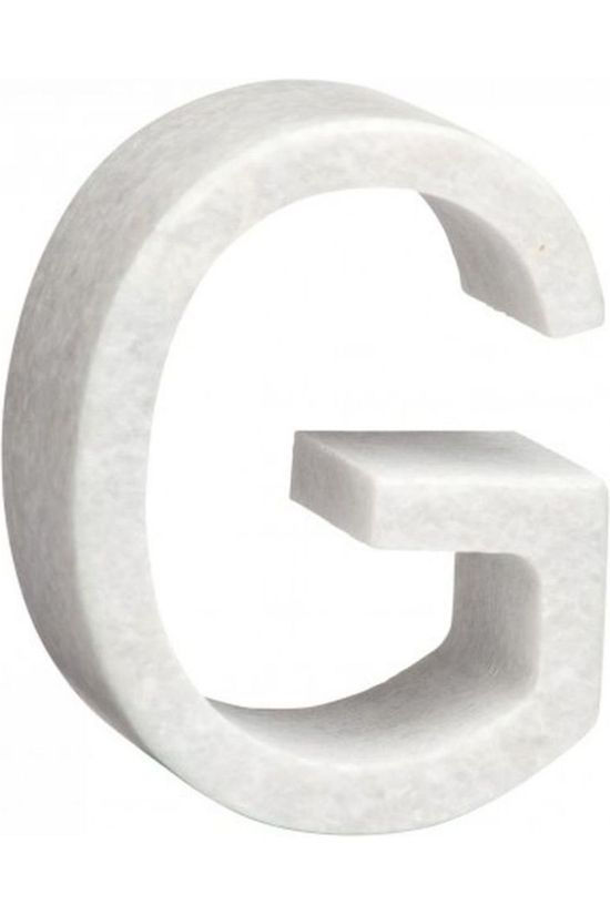 Yaya Home Decoratie  Marble Letter G Wit