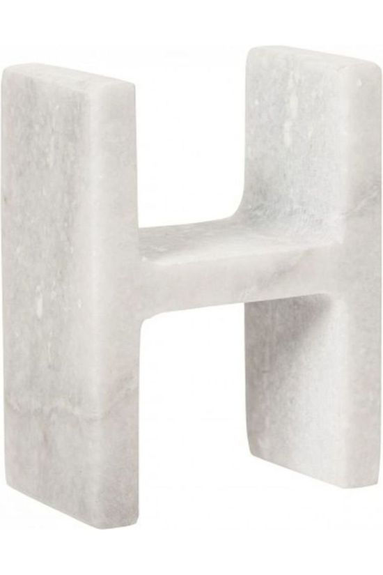 Yaya Home Decoratie  Marble Letter H Wit