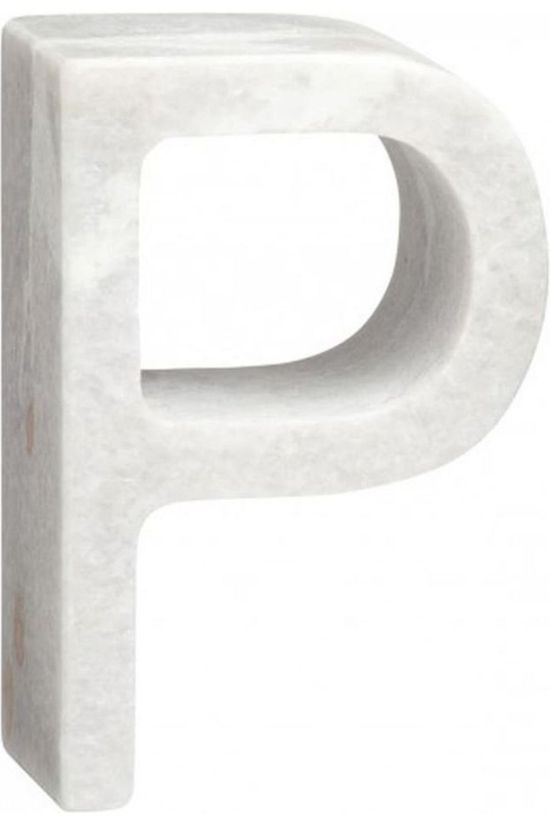Yaya Home Marble Letter P Blanc