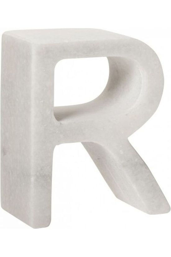 Yaya Home Decoratie  Marble Letter R Wit