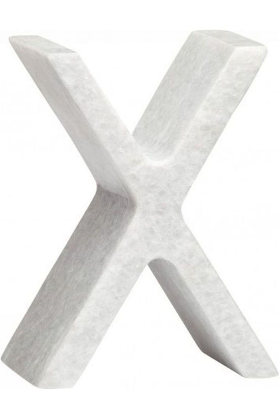 Yaya Home Decoratie  Marble Letter X Wit