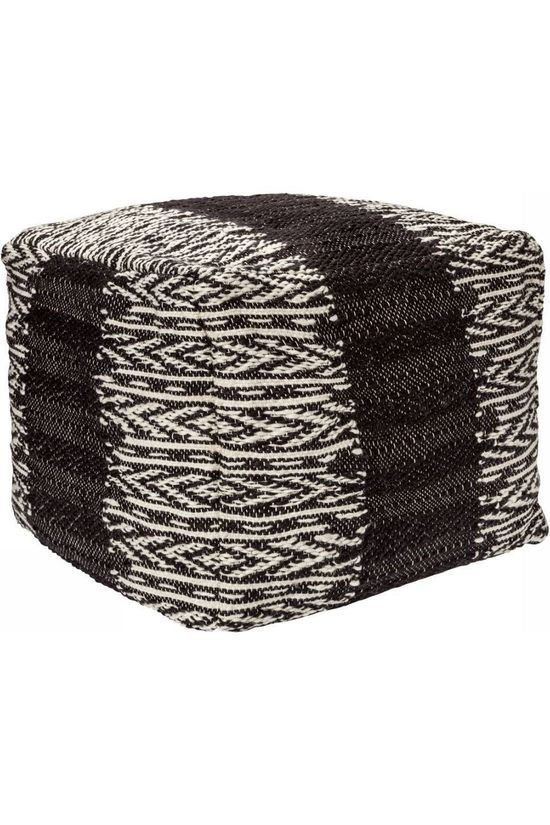 Yaya Home Knitted Pouf With Pattern black/white