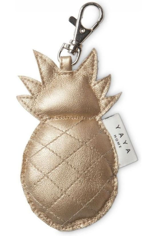 Yaya Home Accessoire Maison Keychain Pineapple Gold Or