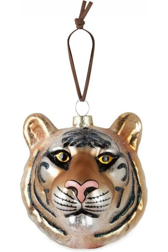 Yaya Home Collection De Noel Christmas Animal Hanger Tiger Orange