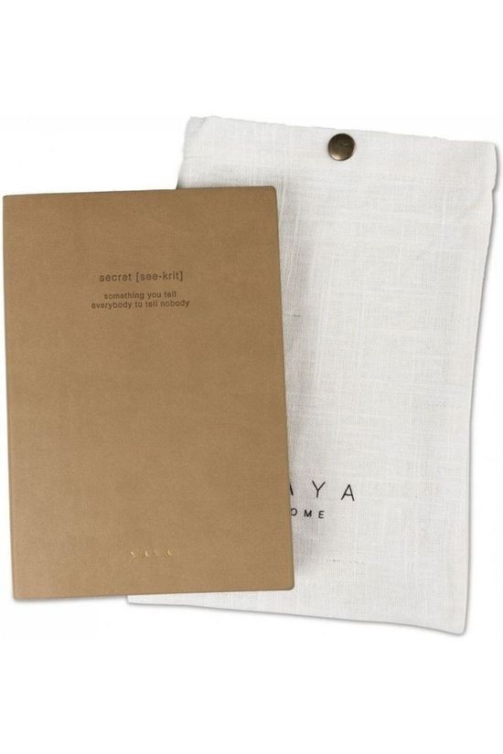 Yaya Home Papierwaren Notebook Secret Kameelbruin