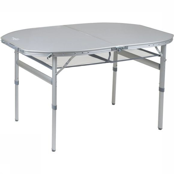 Bo-Camp Table Premium Ovaal Koffermodel 150X80 Cm Gris Moyen