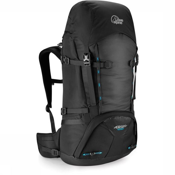 Lowe Alpine Tourpack Mountain Ascent 40 + 10 Donkergrijs