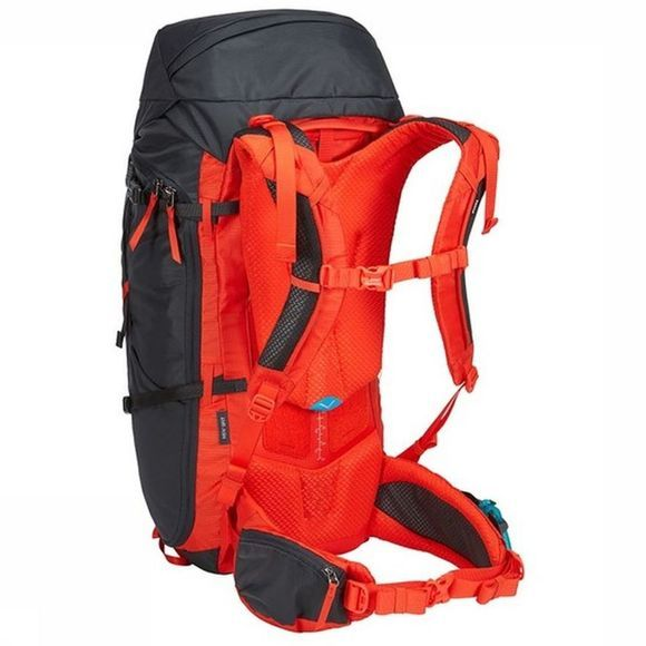 Thule Tourpack Alltrail 45L Mens - Obsidian dark grey/red