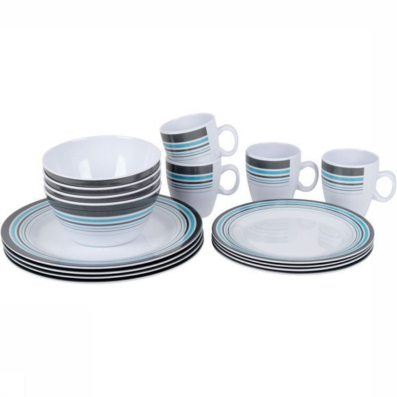 Bo-Camp Bord Servies 100% Melamine 16-Delig Wit/Assortiment
