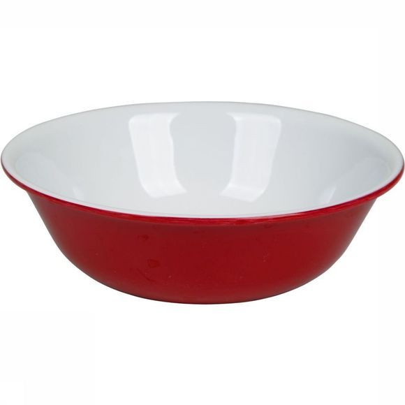 Bo-Camp Bowl Kom Rond 100% Melamine red/white
