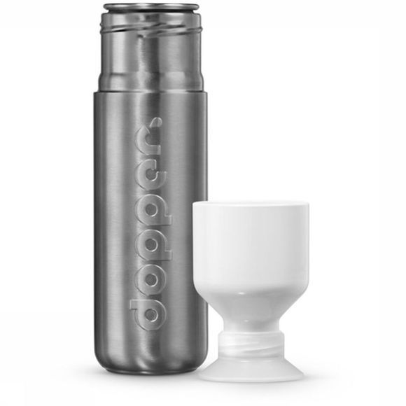 Dopper Drink Bottle Solid Steel mid grey