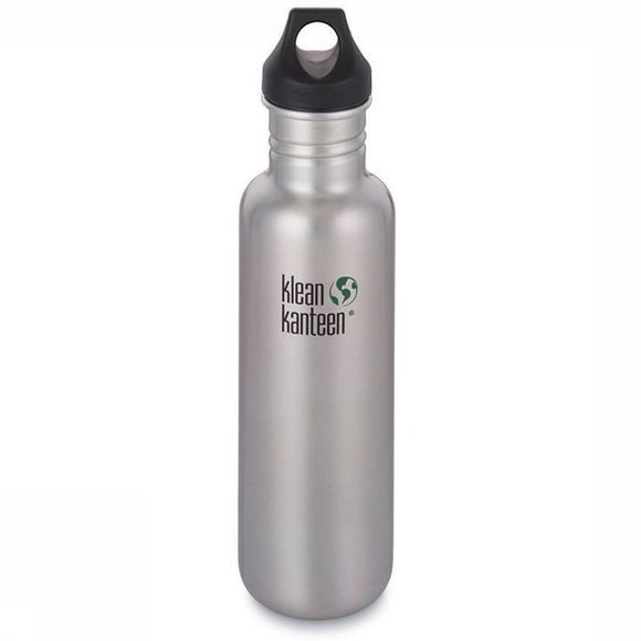 Klean Kanteen Gourde Classic Single Wall 27Oz 800Ml Loop Argent