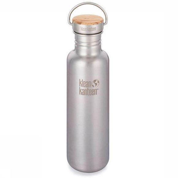 Klean Kanteen Drinkfles Reflect Single Wall 27Oz 800Ml Bamboo Zilver/Uitzonderingen
