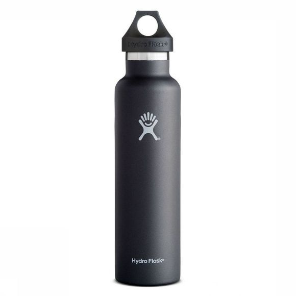 Hydro Flask Isolatiefles 24 Oz/700 Ml Standard Mouth Zwart