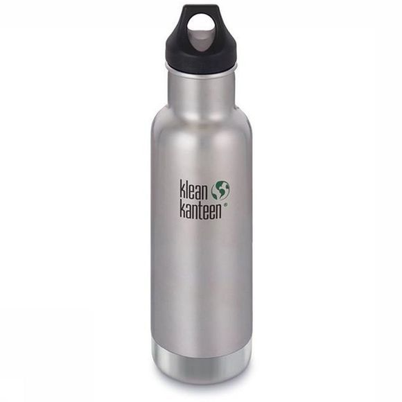 Klean Kanteen Bouteille Isolante Classic Vacuum Insulated 20Oz 592Ml Loop Argent