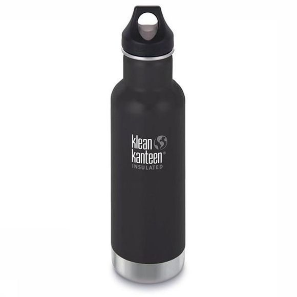 Klean Kanteen Isolatiefles Classic Vacuum Insulated 20Oz 592Ml Loop Zwart