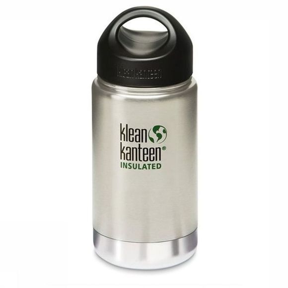 Klean Kanteen Isolatiefles Wide Stainless Loop Cap 355Ml Zilver
