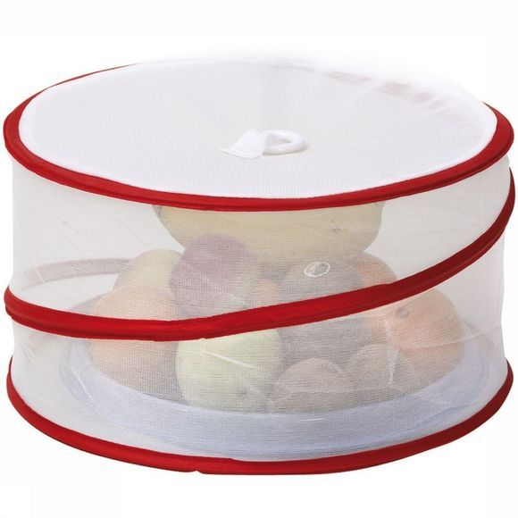 Bo-Camp Miscellaneous Vliegenkapje Popup Rond Inklapbaar white/red