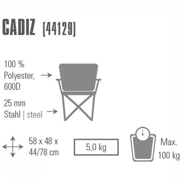 Stoel Camping Chair Cadiz