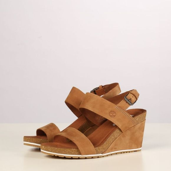 Timberland Sandale Capri Sunset Wedge Brun