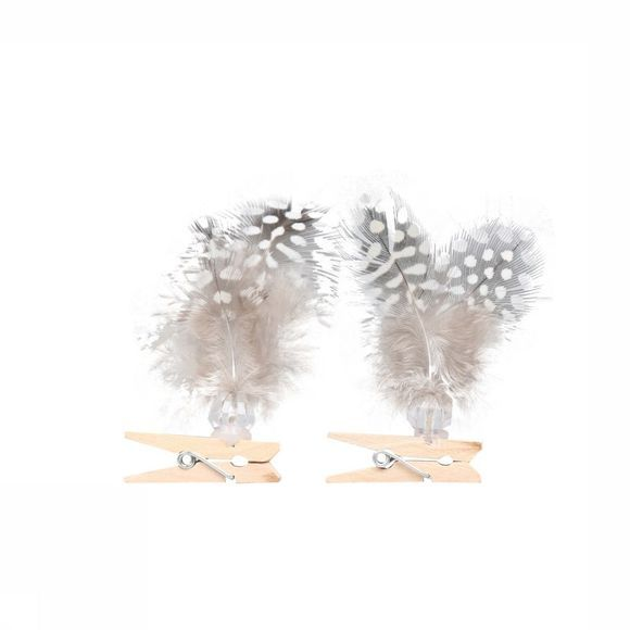 Accessoires Feathers On Clip Bag 2 Pcs 12C