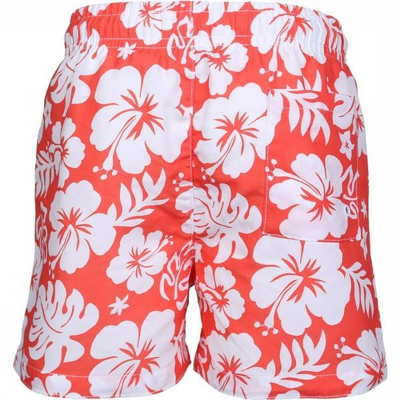 Knot so bad Zwemshort Flowers Oranje