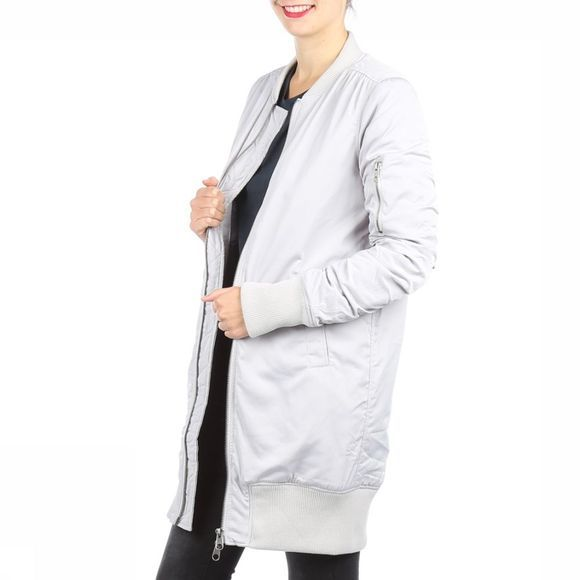 Yaya Coat Long Bomber silver/light grey