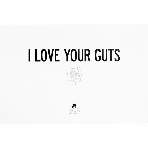 Wenskaart Love Your Guts 10x15