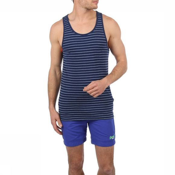 Superdry Top Lite Loom City Stripe Bleu/Assortiment Géométrique