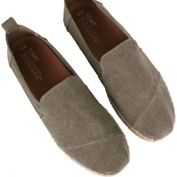 Chaussures Toms Toile Olive Lavé Est Decnalp Esp Pour Les Hommes - Kaki Clair zQQIxltG
