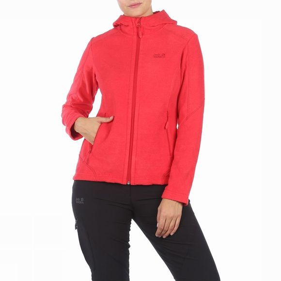 Jack Wolfskin Fleece Carson Hoody red