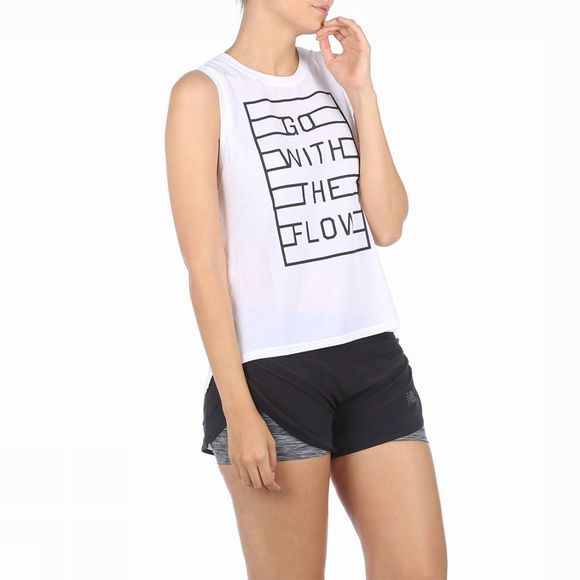 New Balance Top Graphic Layering Tank Wit