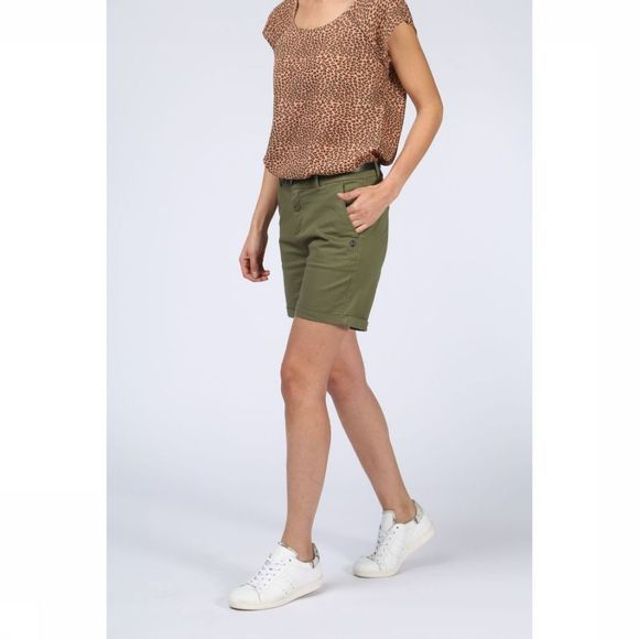 Maison Scotch Short Short Pima Cotton Chino Middenkaki