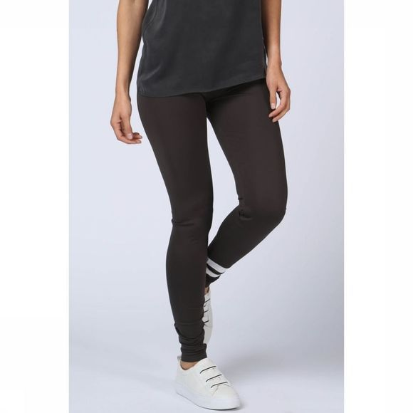 Yaya Legging Reversible Sporty W. Stripe Donkergrijs