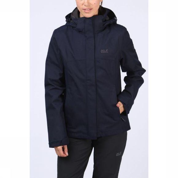 Jack Wolfskin Coat Glencoe Sky 3In1 dark blue