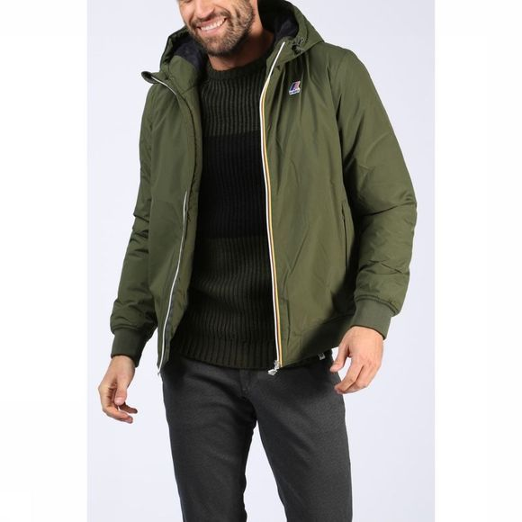 K-Way Coat Justin Ripstop Marmotta dark khaki