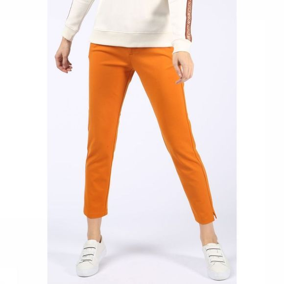 Maison Scotch Broek Tailored Sweat Pant With Belt Roest