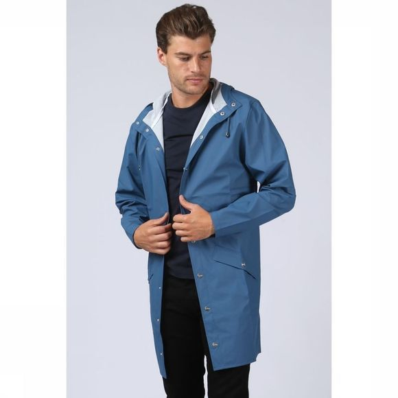 Rains Jas Long Jacket Middenblauw