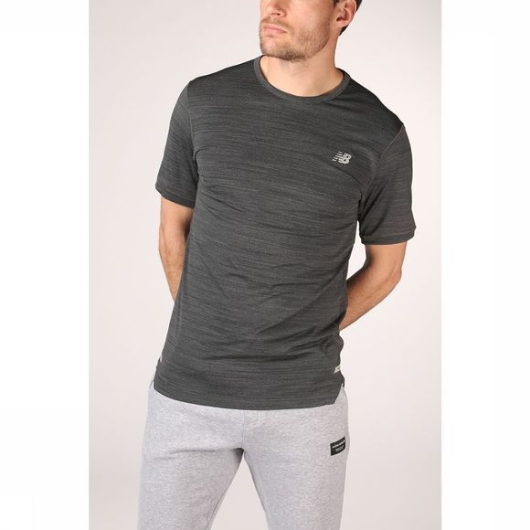 New Balance T-Shirt Seasonless Gris Clair Mélange