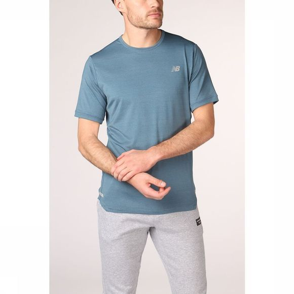 New Balance T-Shirt Seasonless Bleu Moyen