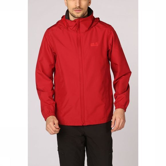 Jack Wolfskin Coat Stormy Point red