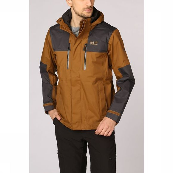 Jack Wolfskin Coat Jasper Flex brown/black