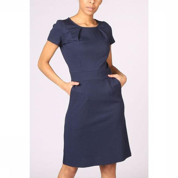 King Louie Dress Mona Milano Crepe dark blue