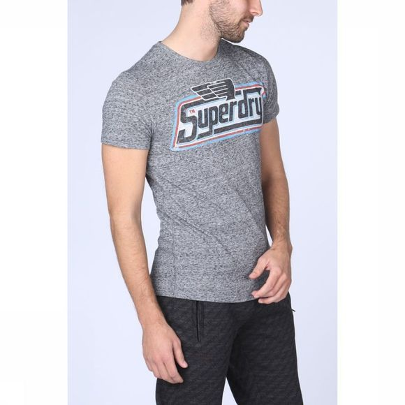 Superdry T-Shirt Nickle Tab Gris Clair Mélange